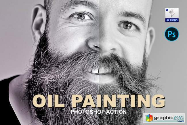 Oil painting | PSD action