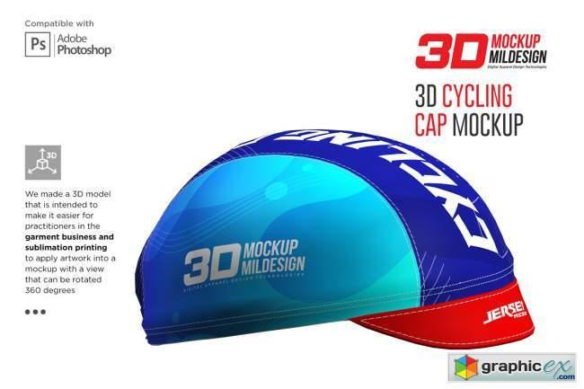 3D Cycling Cap Mockup