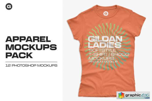 Gildan Ladies 64000 T-Shirt Mockups