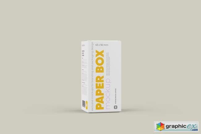 Paper Box Mockup 43x92mm