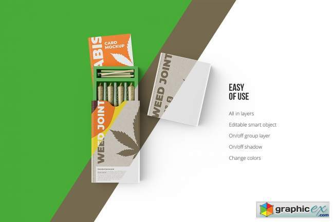Weed Joint Packaging Mockup 4894490