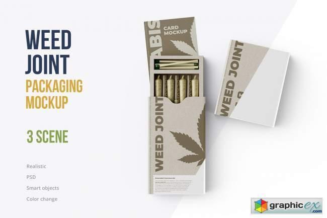 Weed Joint Packaging Mockup 4894490