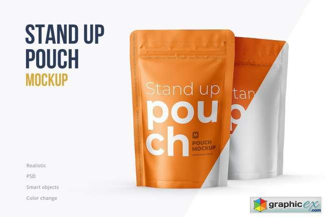Stand Up Pouch Front and Half Side