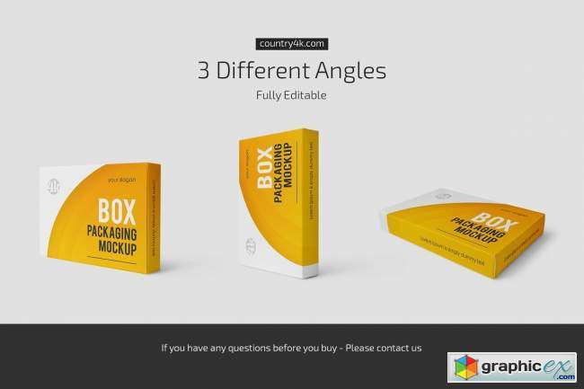 Box Packaging Mockup Set