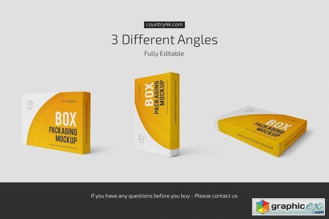Box Packaging Mockup Set