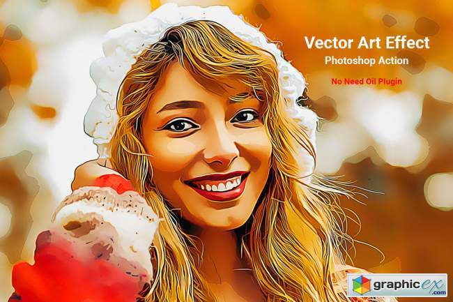 Vector Art Effect Photoshop Action 5106475