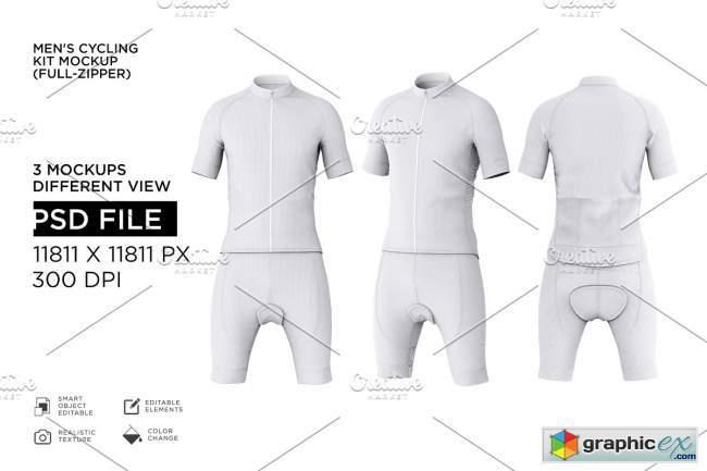 Men's Cyling Jersey Kit Mockup