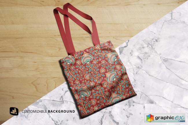 Topview Reusable Cotton Bag Mockup
