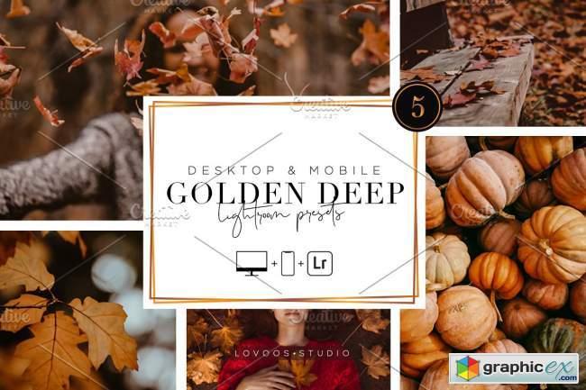 GOLDEN DEEP - Lightroom Presets