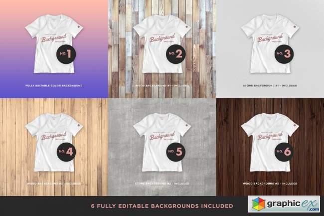 Realistic Blank T-shirt Mockups