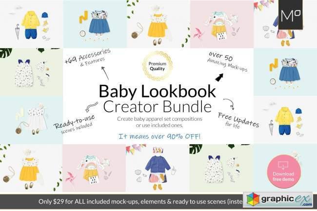 Baby Lookbook Creator Bundle Mockups