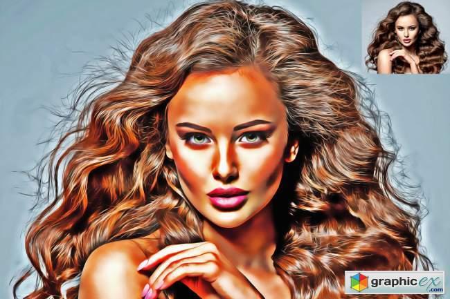 Realistic Oil Paint Photoshop Action 5755653