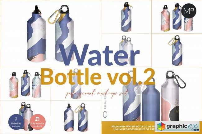 Aluminium Water Bottle II Mock-ups