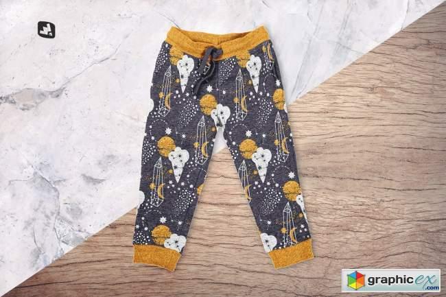 Top View Infant Track Pants Mockup 5201983