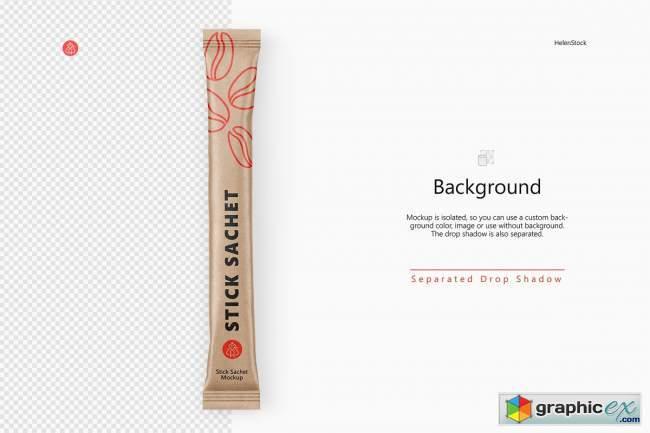 Stick Sachet Mockup - Top View 5734220