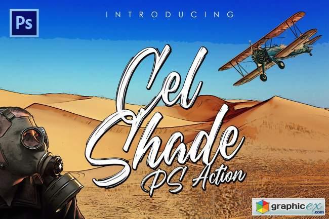 Cel-Shading Photoshop Action 5658779
