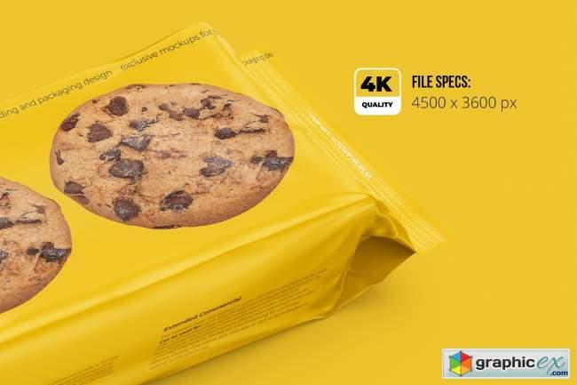 Long Flow Pack / Cookies Mockup