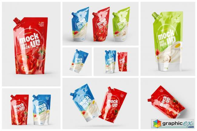 Doypack Packaging Mockup Set | Pouch