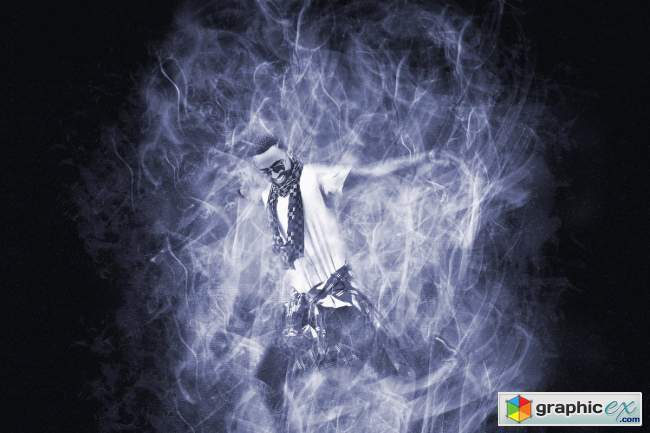 Color Smoke Effect Photoshop Action