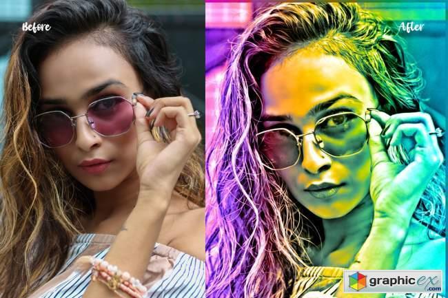 Color Gradient Photoshop Action 5478566