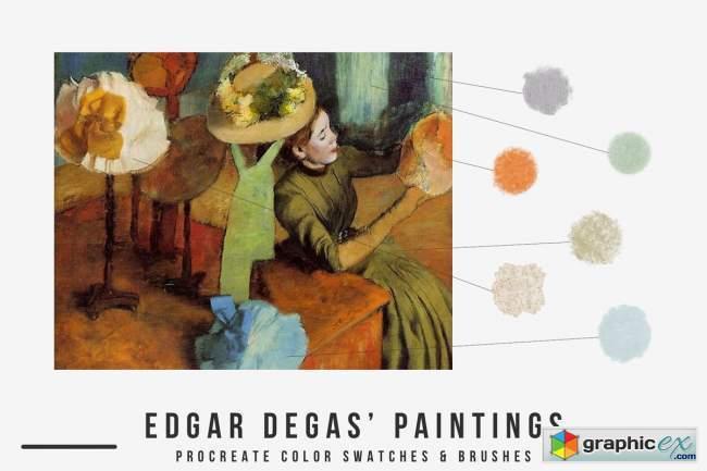 Edgar Degas Art Procreate Brushes
