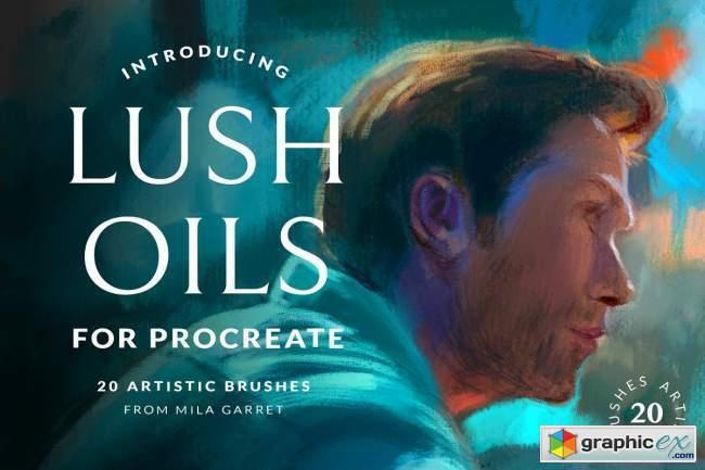 Lush Oils Procreate Painting Brushes