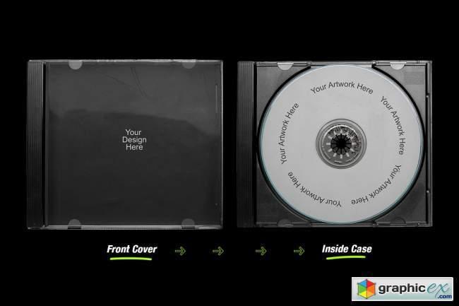 Distressed CD Jewel Case Mockup