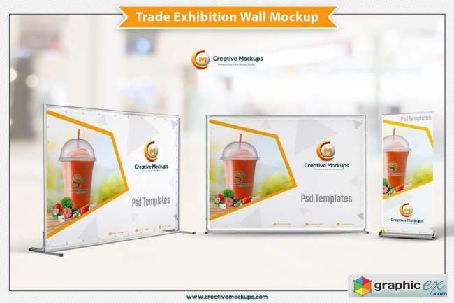 Trade Exhibition Wall Mockup