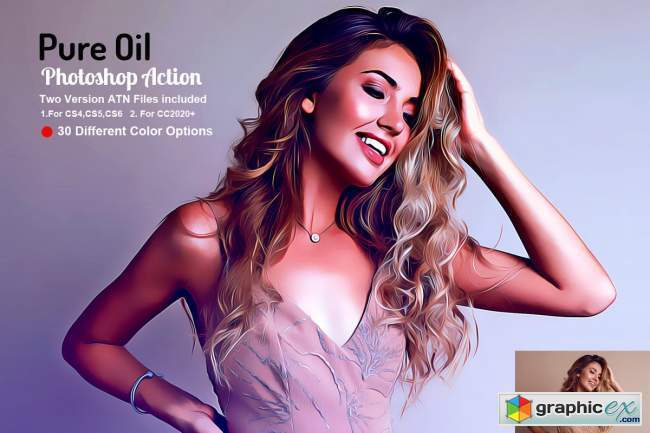 Pure Oil Photoshop Action