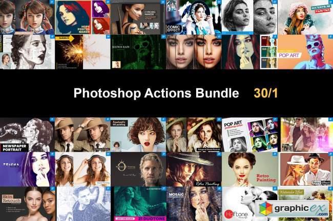 Photoshop Actions Bundle 30/1