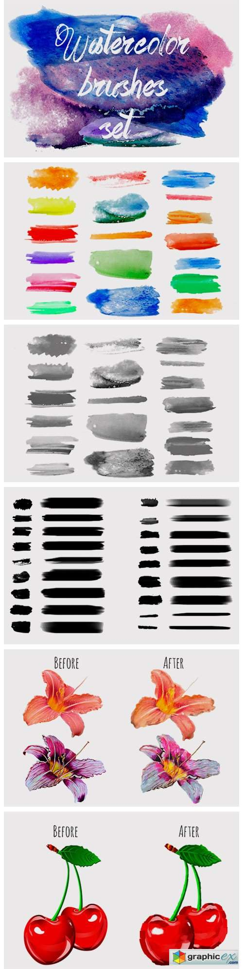 Watercolor Brushes Set 267415