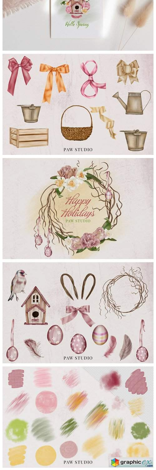 Spring Holiday Womens Day Easter Clipart