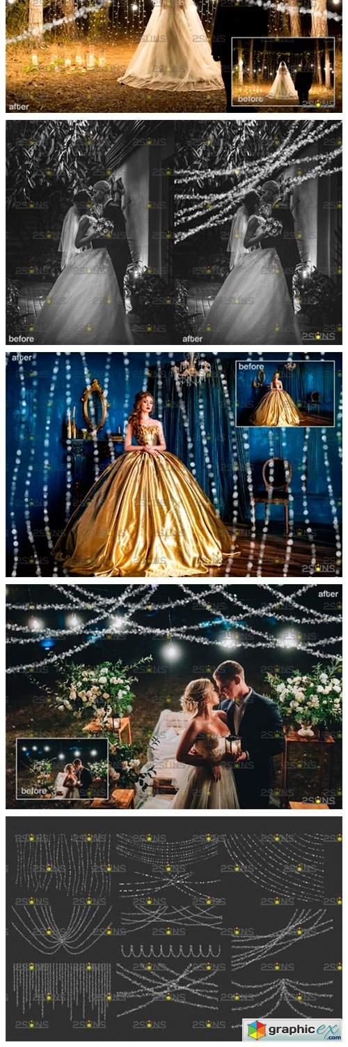 String Fairy Lights Overlay & Photoshop