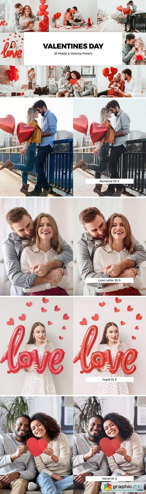 20 Valentines Day Lightroom Presets & LUTs