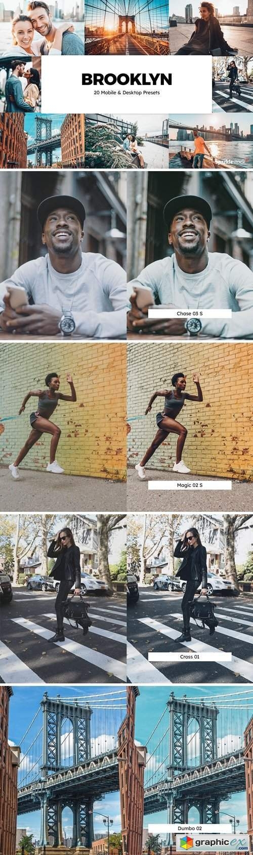 20 Brooklyn Lightroom Presets & LUTs