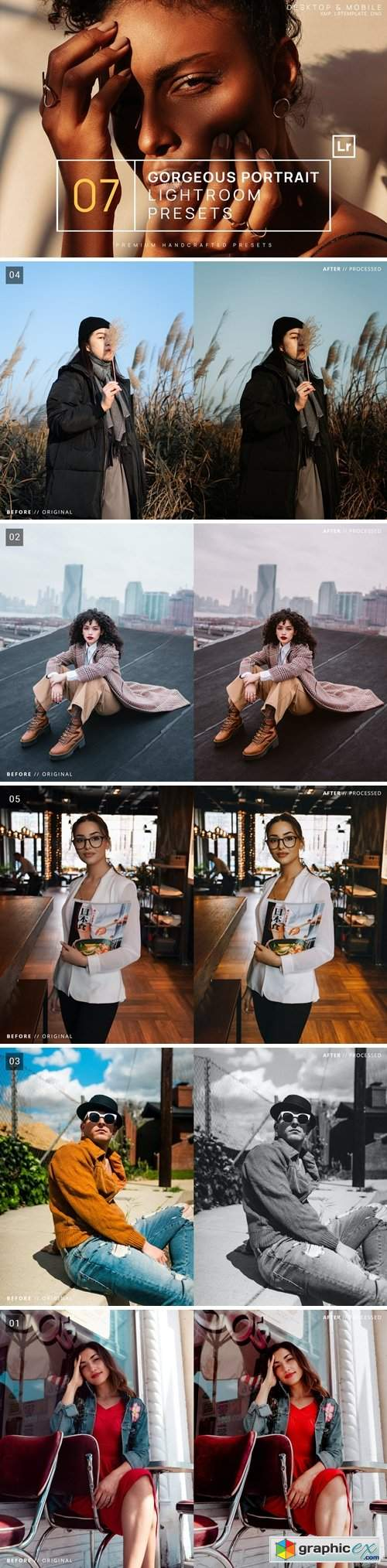 7 Gorgeous Portrait Lightroom Presets + Mobile