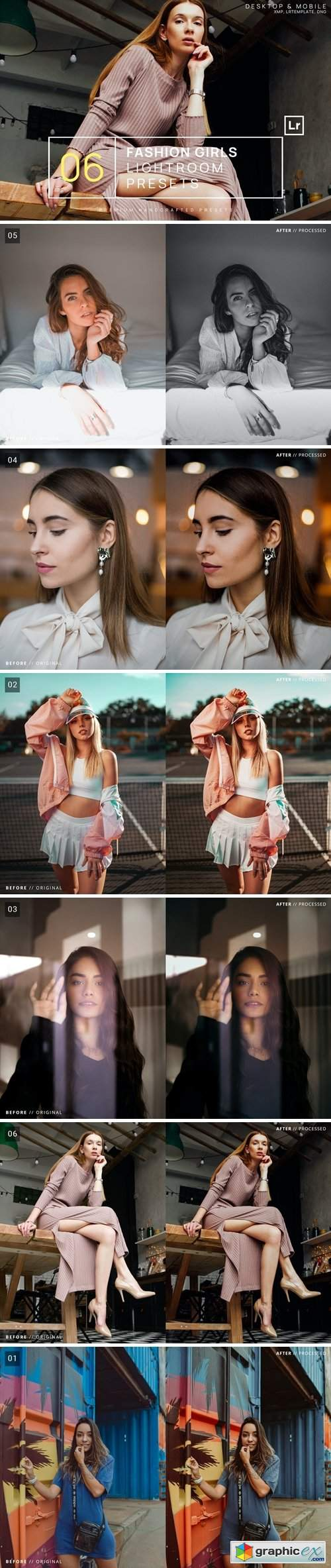 6 Fashion Girls Lightroom Presets + Mobile