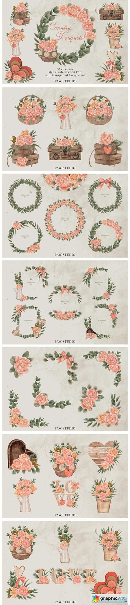 Roses Frames Bouquets Borders Wreaths