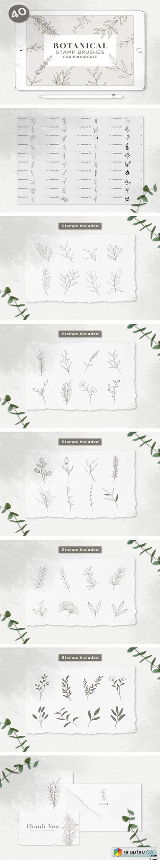 Botanical Procreate Stamp Brushes