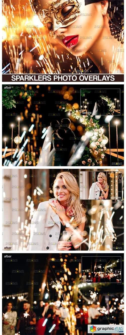 Wedding Sparkler Overlay & Photoshop