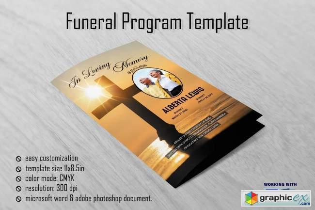 Sunrise Funeral Program Template