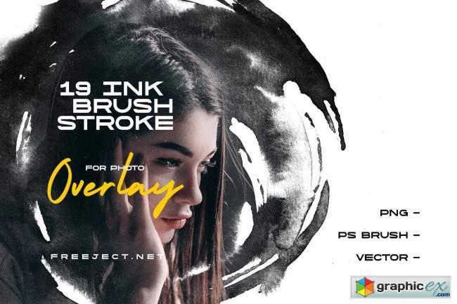 Ink Brush Stroke for Photo Overlay
