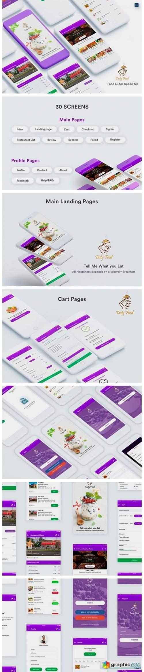 Online Food Order Mobile App UI Kit