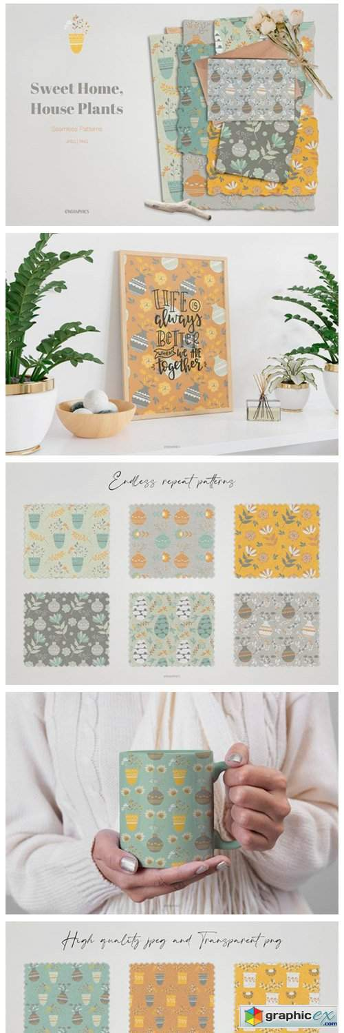 Sweet Home, House Plants Patterns