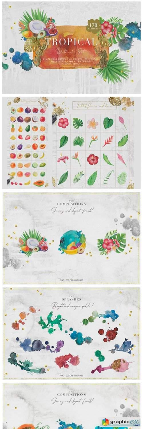 Tropical Watercolor Set 9122878