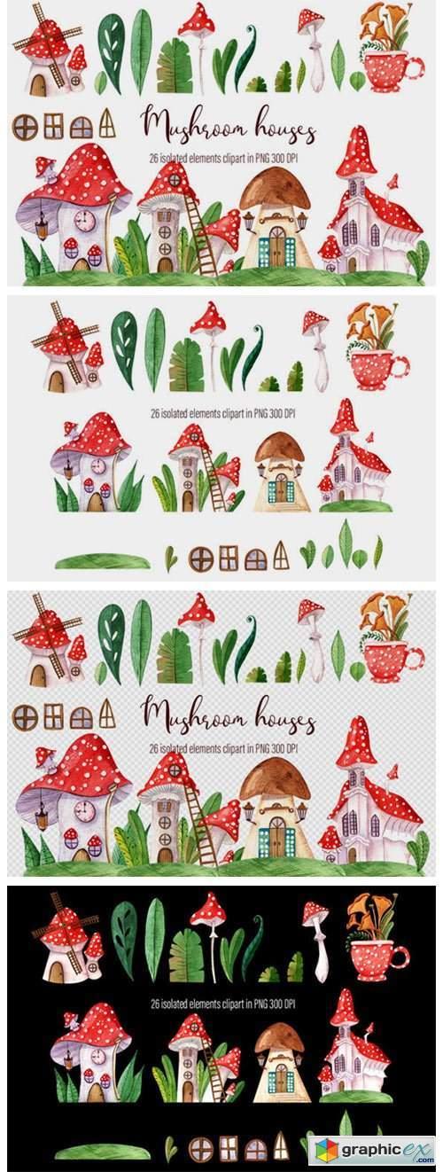 Fairy Houses, Small Mushroom Houses