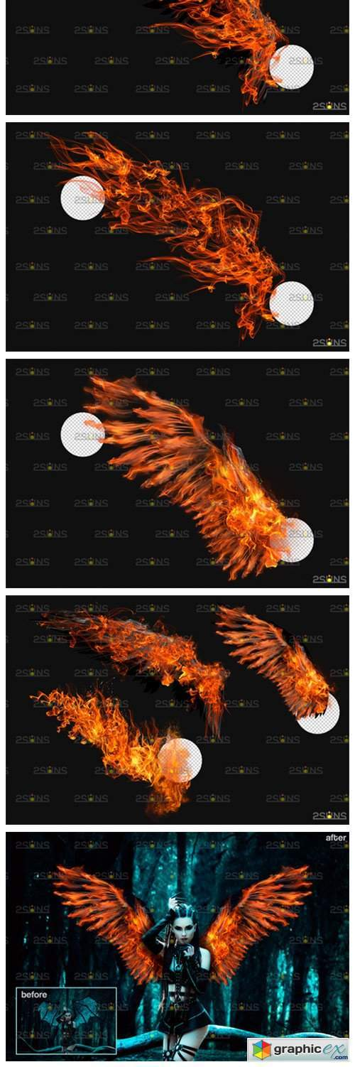 Fire Wings Overlay