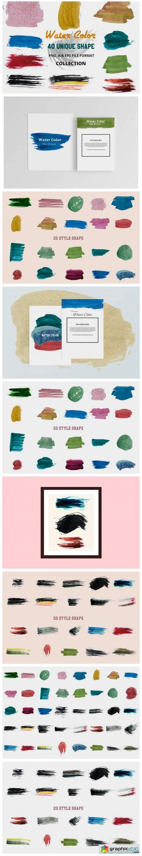 Vector Water Color Object
