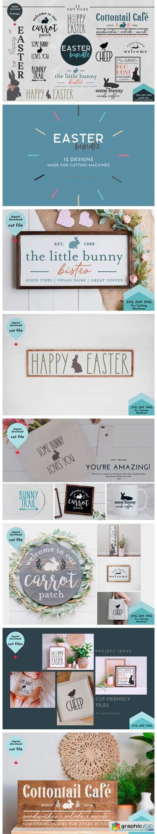 Easter Bundle - 12 Spring Cut Files