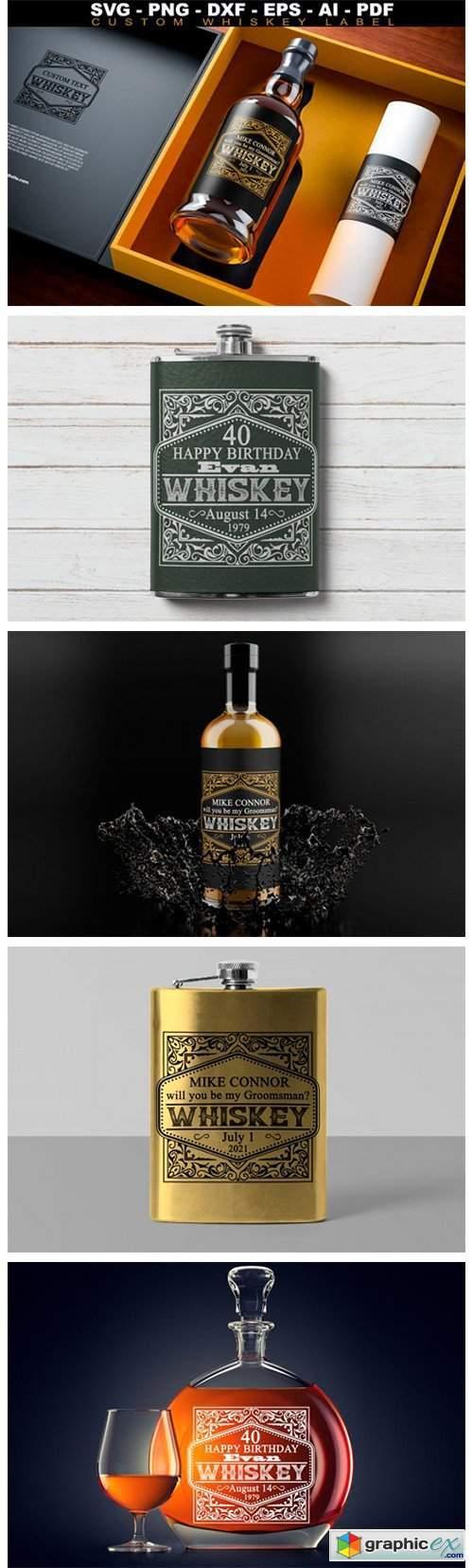 Custom Whiskey Label SVG Groomsman Label